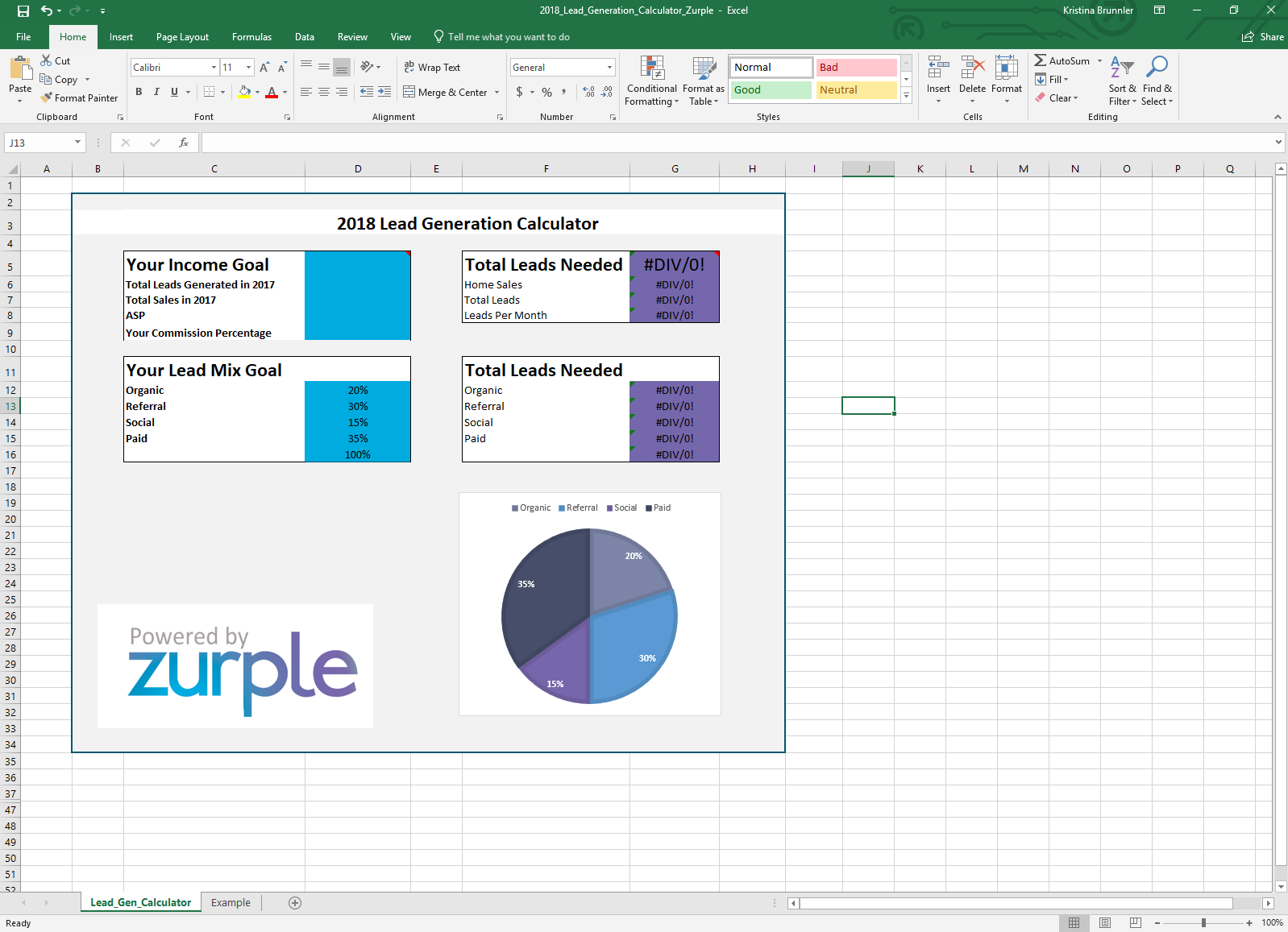 Lead Generation Calculator Screenshot 2